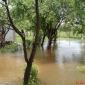 Река на средата на двора.